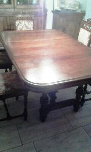 Bretonischer Esstisch Mit 6 Stuhlen Antik Ca 1890 L113 163 213xb106xh74 Ebay