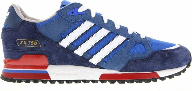 Adidas Originals Zx 750 Baskets Hommes Azuré /Blanc /Rouge Tailles UK 7 à 12 Ans