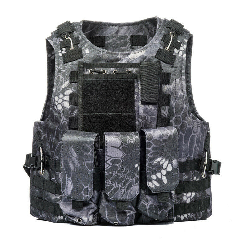 Tactical Vest Molle Airsoft Military Assault Hunting Combat Outdoor CS Paintball