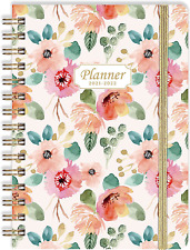 Planner 2021 2022 Academic Daily Planner Weekly Monthly Hardcover Cute Flowers