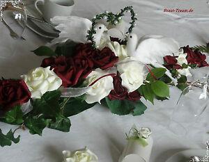 Altargesteck Tischdeko Sehr Edel Braut Hochzeit Silberhochzeit