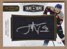 11-12 2011-12 Panini Dominion Tape To Tape John Tavares Hockey Stick Auto /8