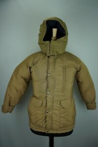 The-North-Face-Brown-Label-VINTAGE-Down-Hooded-Light-Brown-Mens-Jacket-Sz-XS