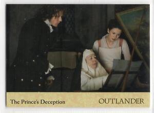 Outlander-Season-2-2017-RAINBOW-FOIL-BASE-Card-19-THE-PRINCE-039-S-DECEPTION