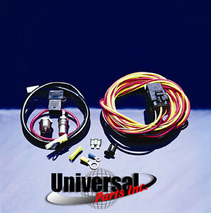 spal 195 degree thermostat relay wiring harness 195fh 744587370568image is loading spal 195 degree thermostat relay wiring harness 195fh