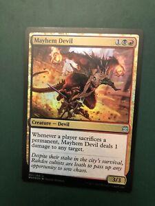 FOIL MAYHEM DEVIL X4 War Of The Spark WAR Magic MTG MINT CARD