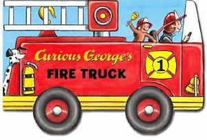 Curious-Georges-Fire-Truck-mini-movers-shaped-board-books-by-H-A-Rey