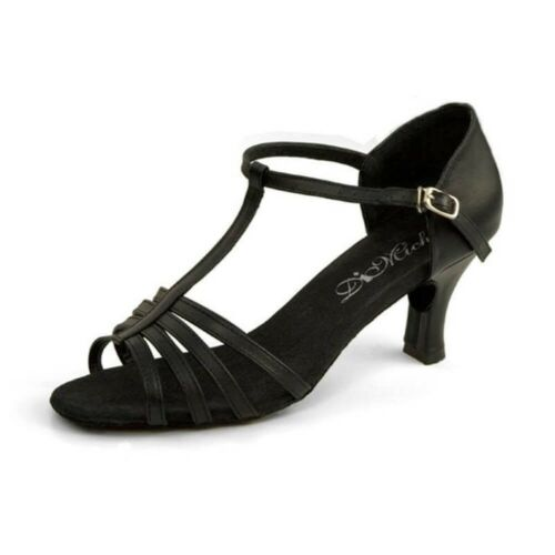 "DiMichi Adult /""KiKi/"" Leather Multi-strap Open-toe Ballroom Shoe Sandals"