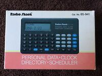 Vintage Personal Data Clock Directory Scheduler 65-941 Ec-324 Radio Shack