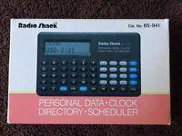Vintage Personal Data Clock Directory Scheduler 65-941 Ec-324 Radio Shack