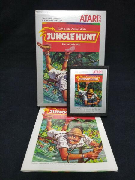 "1983 Vintage Atari 2600 ~ ""jungle Hunt"" Vcs Game W/h Instruction Booklet Om Een Hoge Bewondering Te Winnen"
