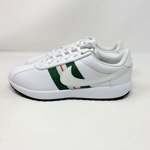 """Details about Nike Women Cortez Golf Shoes Size 8.5/Men's 7 """"CI1670 102""""  White/Green/Red"""