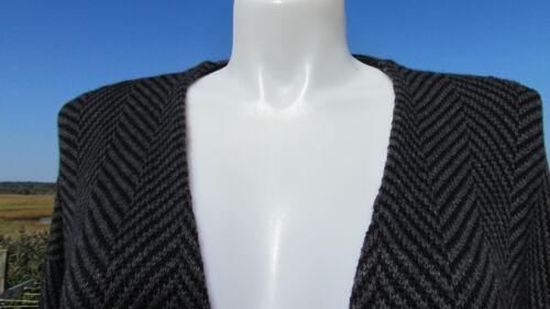 Gris Nouveau Jacket Knit Kimono de Jill manteau J Oo 3x Chevron 149 en manteau Noir Elegant POgwrPq0