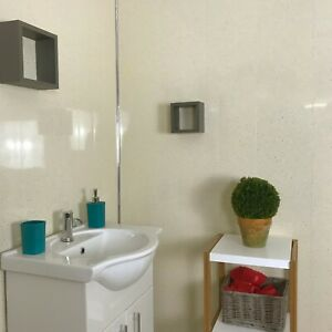 beige sparkle 5mm pvc bathroom cladding shower wet wall