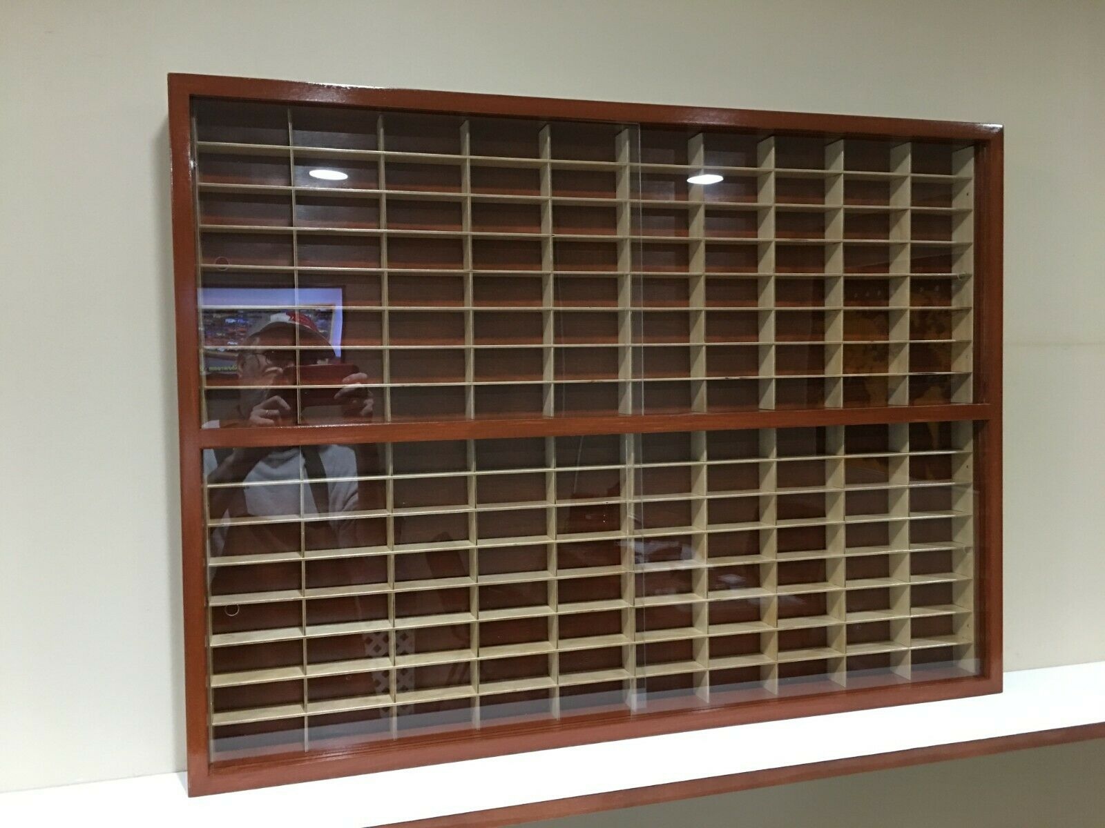Display case cabinet for 1 64 diecast scale cars (hot wheels, matchbox)-160NWW-9