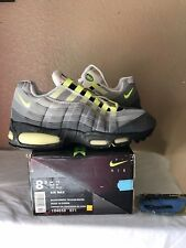 DS 1995 Nike Air Max 95 OG Original Size 8.5 Black Neon Yellow White 96 98 2db6ea6dd