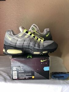 brand new 135db 14a6a Details about DS 1995 Nike Air Max 95 OG Original Size 8.5 Black Neon  Yellow White 96 98 99 97