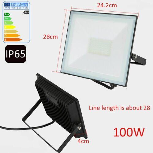 LED Floodlight PIR Motion Sensor 10//20//30//50//100W Security Outdoor Flood Light