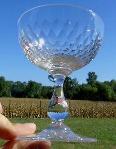 Baccarat-Coupe-a-champagne-en-cristal-forme-gondole-taille-nid-d-039-abeille