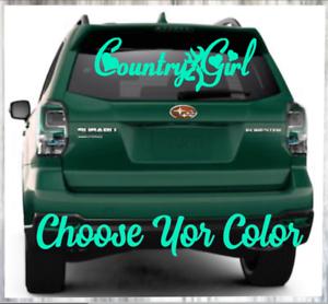 "Car Monogram Vinyl Decal Window Sticker  /""Country Girl Design/"" Truck"