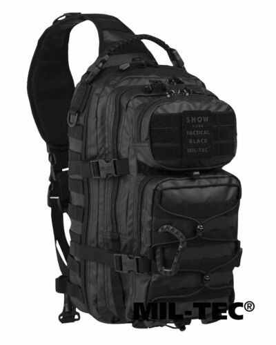 Mil-tec one Strap Assault Pack lg Tactical Black días mochila MOCHILA BOLSO