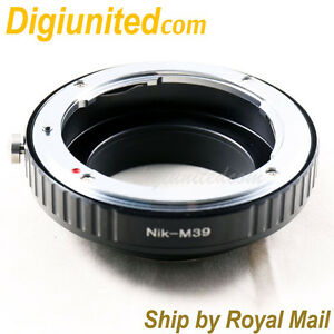 Nikon-F-mount-AI-S-AF-lens-to-M39-screw-mount-L39-camera-adapter-non-LTM