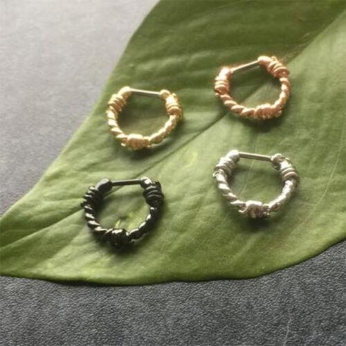 Tabique clicker alambre de púas espina alambre elección de color piercing septumpiercing