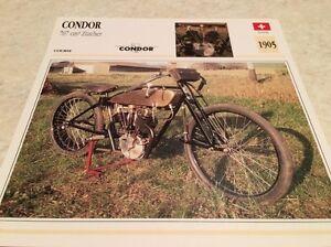 Karte-Motorrad-Condor-707-cm3-Zuercher-1905-Sammlung-Atlas-Motorrad-Schweiz