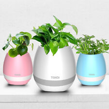 Smart Touch Plant Piano LED Light Wireless Bluetooth Speaker Music Flower Pot