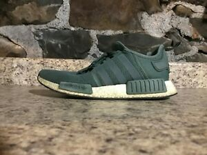 557f2e3a8 ADIDAS NMD R1 TRACE GREEN BY9692 SZ 10 PRE-OWNED USED WITHOUT BOX  B ...