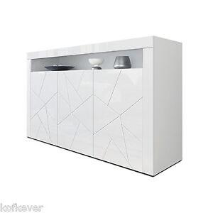 Credenza moderna Girasole 3D, mobile soggiorno bianco, madia ...
