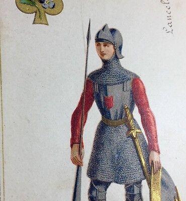 c1868 Lancelot Hangard-Maugé Playing Cards Jacquemin Gringonneur Court Single