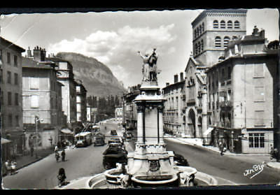 Precio MáS Bajo Con Grenoble (38) Autobus Electrique Alpa à La Pharmacie , Fontaine & Eglise En 1956