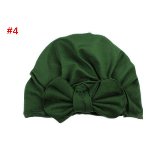 Kids Baby Infant Solid Bow-knot Turban Headband Beanie Hat Head Wrap Cap Toddler