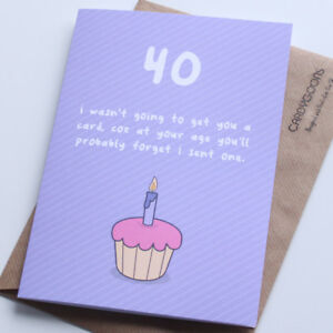 Image Is Loading 40th Birthday Card Funny Humour Rude Greeting