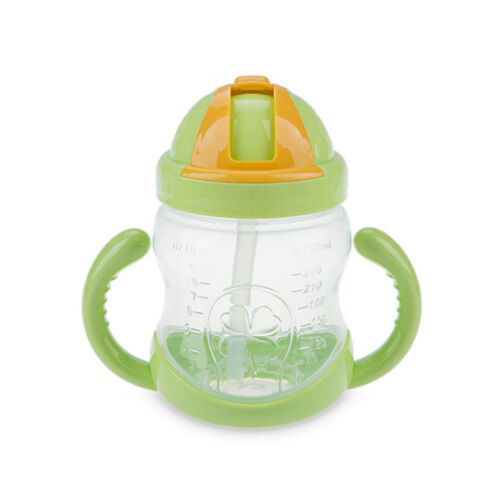 Training Cup School Drinking Bottle Water Straw Handle Bottle Baby Kids Cup
