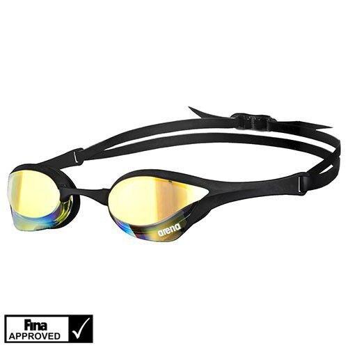 Arena Cobra Ultra Mirror Swimming Goggles Made In Japan Yellow/Revo/Black/Black