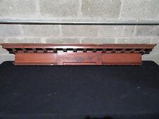 ~ ANTIQUE CHERRY WOOD PEDIMENT WALL SHELF ~ 64 INCH ~ ARCHITECTURAL SALVAGE ~