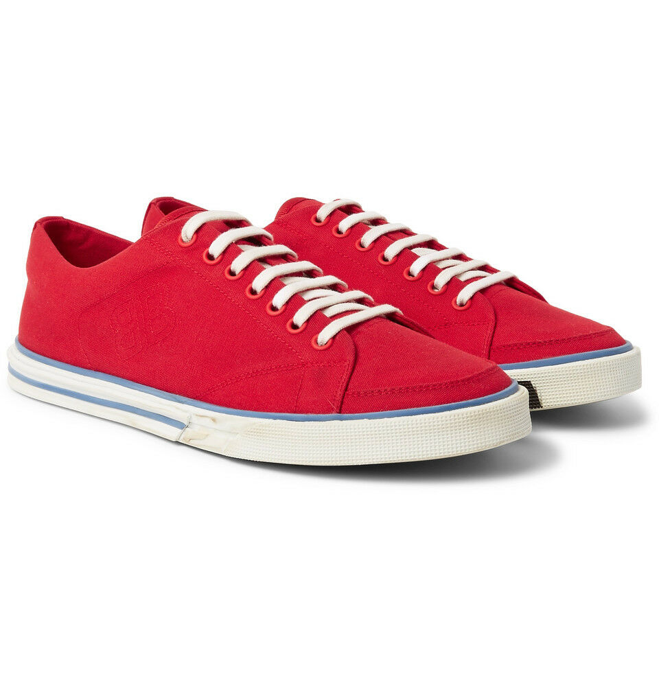 Balenciaga Match low-top canvas trainers Red White