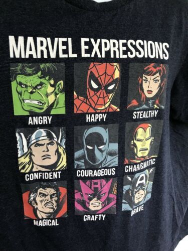 Big Graphic Marvel Expressions T-Shirt Graphic Tee
