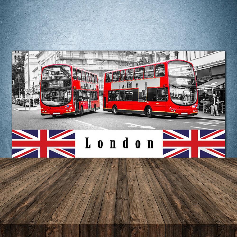 Crédence de cuisine en verre Panneau 140x70 Art Londres Bus
