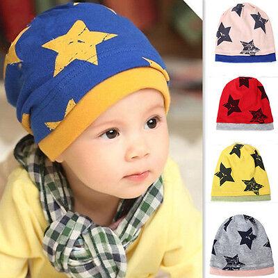 Baby Infant Kids Boy Girl Child Winter Star Knit Warmer Cap Beanie Cotton Hat