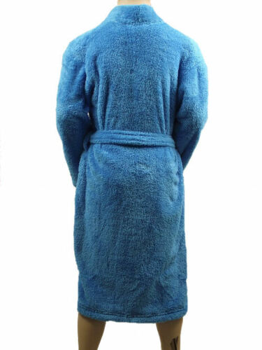 Marks /& Spencer Boys Youth Blue Soft Fleece Dressing Gown M/&S Bath Robe /& Belt