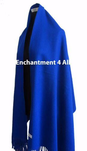 Royal Blue Large 100/% 4-Ply Pure Cashmere Shawl Wrap
