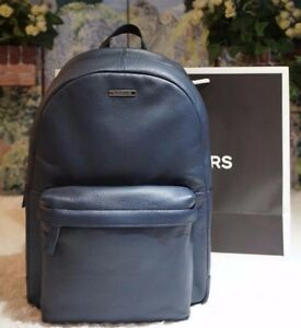 ebb443315a09c NWT MICHAEL KORS Men s STEPHEN Backpack Bag NAVY LEATHER With Nylon ...