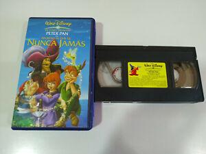 PETER-PAN-EN-EL-PAIS-DE-NUNCA-JAMAS-Clasicos-Walt-Disney-VHS-Cinta-Castellano