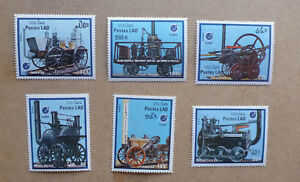 1988-LAOS-EARLY-RAILWAYS-SET-OF-6-MINT-STAMPS-MNH-ESSEN-039-88