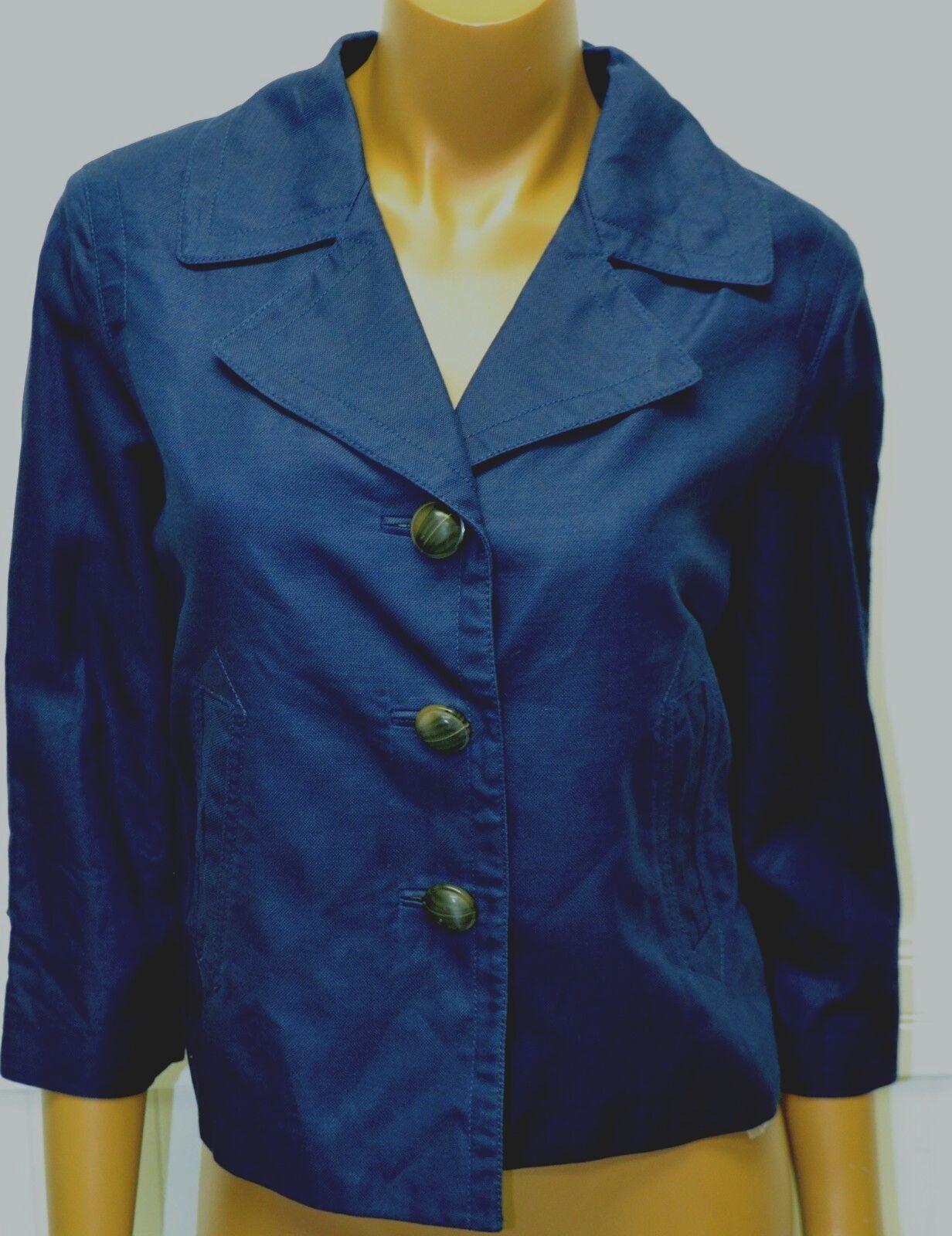 2 Talbots Petite Größe Neu 159 Leinen Mantel Blazer Jacke