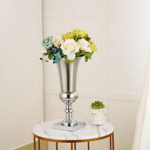 Large Stunning Silver Iron Luxury Flower Vase Urn Wedding Home Table Centrepiece