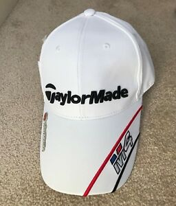 White Taylormade M4 Golf Cap Hat with Magnetic Ball Marker One Size ... dd6d1cc0eba